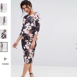 LIKE NEW ASOS maternity floral dress